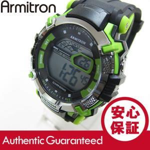Armitron (アーミトロン) 40-8312GRN デジタル ブラック×グリーン ラバーベルト メンズウォッチ 腕時計|goody-online