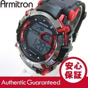 Armitron (アーミトロン) 40-8312RED デジタル ブラック×グリーン ラバーベルト メンズウォッチ 腕時計 【あすつく】|goody-online