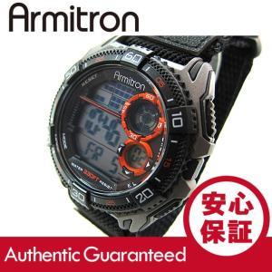 Armitron (アーミトロン) 40-8329BLK デジタル ブラック ナイロンベルト メンズウォッチ 腕時計 【あすつく】|goody-online