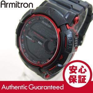 Armitron (アーミトロン) 440-8333RED デジタル ブラック×レッド ラバーベルト メンズウォッチ 腕時計 【あすつく】|goody-online