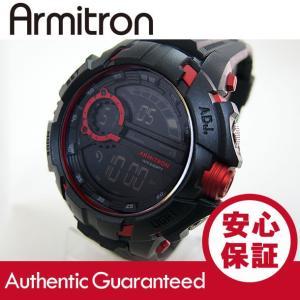 Armitron (アーミトロン) 40-8335RED デジタル ブラック×レッド ラバーベルト メンズウォッチ 腕時計 【あすつく】|goody-online
