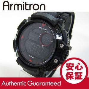 Armitron (アーミトロン) 40-8346BLK デジタル ブラック×レッド ラバーベルト メンズウォッチ 腕時計 【あすつく】|goody-online