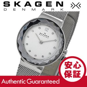 SKAGEN (スカーゲン) 456SSS スワロフスキークリスタル スリム ステンレス メッシュ レディースウォッチ 腕時計|goody-online