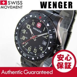 WENGER(ウェンガー) 79309 Off Road/オフロード ミリタリー メタルベルト ブラック メンズウォッチ 腕時計 【あすつく】|goody-online