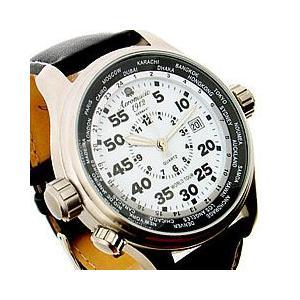 Aeromatic 1912(エアロマティック 1912) A1268 GMT ワールドツアー 3リューズ 文字盤蓄光 ドイツミリタリー メンズウォッチ 腕時計 【あすつく】|goody-online
