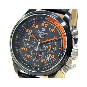 Aeromatic 1912(エアロマティック 1912) A1325 ドイツ製 クロノグラフ レザー ブラック メンズウォッチ 腕時計|goody-online