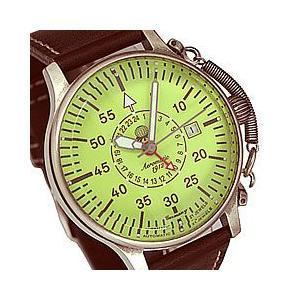 Aeromatic 1912(エアロマティック 1912) A1396 自動巻き レトロパイロット リューズガード GMT 文字盤蓄光 ドイツミリタリー メンズウォッチ 腕時計|goody-online