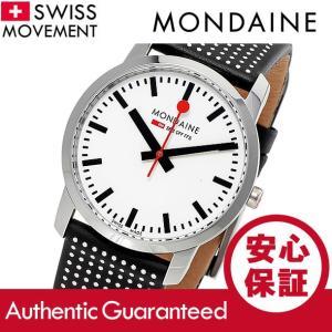 MONDAINE (モンディーン) A400.30351.11SBO レザーベルト ホワイトダイアル ポルカドット スイスメイド/SWISS MADE ユニセックスウォッチ 腕時計|goody-online