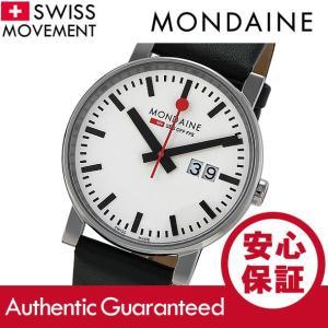 MONDAINE (モンディーン) A627.30303.11SBB レザーベルト ホワイトダイアル ブラック スイスメイド/SWISS MADE メンズウォッチ 腕時計|goody-online