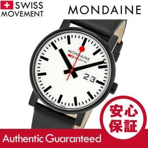 MONDAINE (モンディーン) A627.30303.61SBB レザーベルト ホワイトダイアル ブラック スイスメイド/SWISS MADE メンズウォッチ 腕時計|goody-online