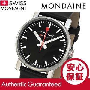 MONDAINE (モンディーン) A658.30300.14SBB レザーベルト ブラックダイアル ブラック スイスメイド/SWISS MADE メンズウォッチ 腕時計|goody-online