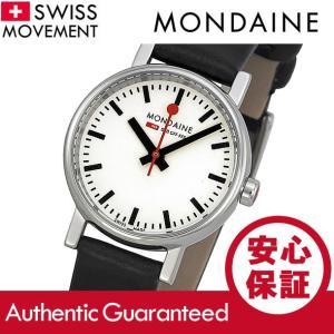 MONDAINE (モンディーン) A658.30301.11SBB レザーベルト ホワイトダイアル ブラック スイスメイド/SWISS MADE レディースウォッチ 腕時計|goody-online