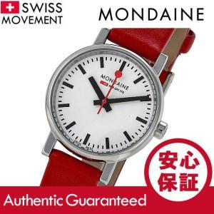 MONDAINE (モンディーン) A658.30301.11SBC レザーベルト ホワイトダイアル レッド スイスメイド/SWISS MADE レディースウォッチ 腕時計|goody-online