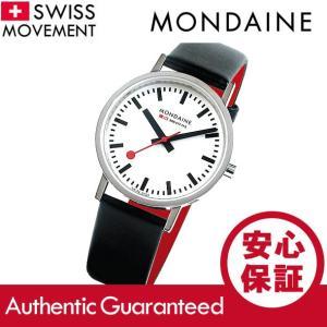 MONDAINE (モンディーン) A660.30314.11SBCS レザーベルト ホワイトダイアル レッド スイスメイド/SWISS MADE ユニセックスウォッチ 腕時計|goody-online