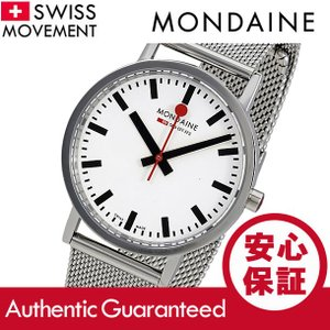 MONDAINE (モンディーン) A660.30314.11SBMS ステンレスメッシュベルト ホワイトダイアル シルバー スイスメイド/SWISS MADE メンズウォッチ 腕時計|goody-online