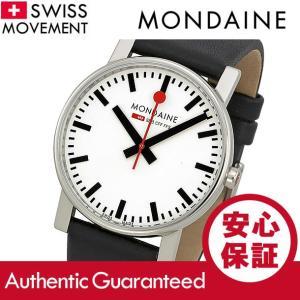 MONDAINE (モンディーン) A660.30344.11SBB レザーベルト ホワイトダイアル ブラック スイスメイド/SWISS MADE メンズウォッチ 腕時計|goody-online