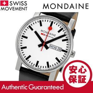 MONDAINE (モンディーン) A667.30344.11SBB レザーベルト ホワイトダイアル ブラック スイスメイド/SWISS MADE メンズウォッチ 腕時計|goody-online