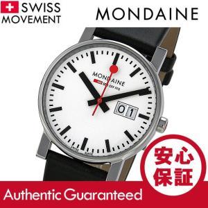 MONDAINE (モンディーン) A669.30300.11SBB レザーベルト ホワイトダイアル ブラック スイスメイド/SWISS MADE メンズウォッチ 腕時計|goody-online