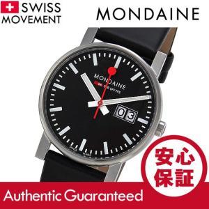 MONDAINE (モンディーン) A669.30300.14SBB レザーベルト ブラックダイアル ブラック スイスメイド/SWISS MADE ユニセックスウォッチ 腕時計|goody-online