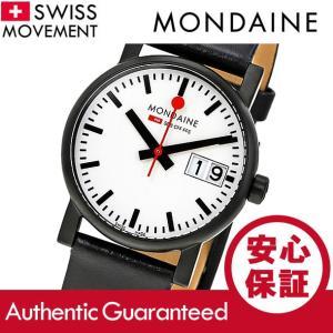 MONDAINE (モンディーン) A669.30305.61SBB レザーベルト ホワイトダイアル ブラック スイスメイド/SWISS MADE レディースウォッチ 腕時計|goody-online