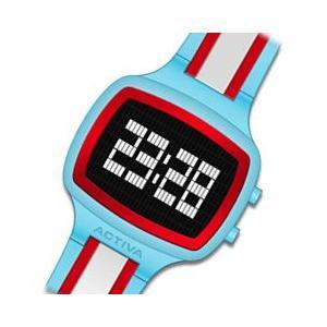 ACTIVA By Invicta(アクティバ) アメリカンカジュアルウォッチ GIOTTO 45 AA400-011 ターコイズ×レッド×ホワイト  デジタル 腕時計|goody-online