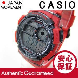 CASIO (カシオ) AE-1000W-4A/AE1000W-4A デジタル ワールドタイム搭載 レッド キッズ・子供 かわいい! メンズウォッチ チープカシオ 腕時計 【あすつく】|goody-online