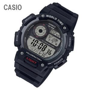CASIO/チープカシオ AE-1400WH-1A/AE1400WH-1A ワールドタイム デジタル ブラック メンズ チプカシ キッズ/子供にもオススメ! 腕時計 【あすつく】|goody-online