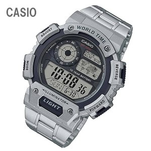 CASIO/チープカシオ AE-1400WHD-1A/AE1400WHD-1A ワールドタイム デジタル ステンレスベルト メンズ チプカシ キッズ/子供にもオススメ! 腕時計|goody-online