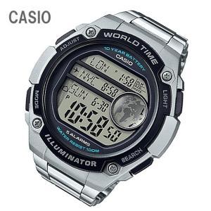 CASIO/チープカシオ AE-3000WD-1A/AE3000WD-1A ワールドタイム デジタル ステンレスベルト メンズ チプカシ キッズ/子供にもオススメ! 腕時計|goody-online