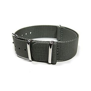 【280MM/18MM NATOベルト】 T2N Strap (T2Nストラップ) AN18NT-4GY グレー 高級ナイロンストラップ 4RING 腕時計用 替えベルト|goody-online