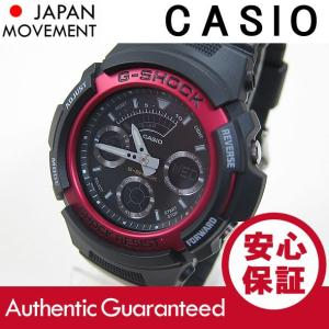 CASIO G-SHOCK(カシオ Gショック) AW-591-4A/AW591-4A アナデジ ブラック×レッド メンズウォッチ 腕時計【あすつく】|goody-online