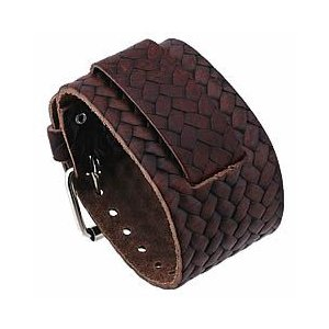 【ラグ幅:22-24mm対応】NEMESIS(ネメシス)BBD Leather Cuff/レザーカフ付け替えベルト アメリカンカジュアル 腕時計替えバンド/ベルト|goody-online