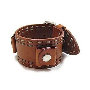 【ラグ幅:20-22mm対応 】NEMESIS(ネメシス)BDST Leather Cuff/レザーカフ付け替えベルト アメリカンカジュアル 腕時計替えバンド/ベルト|goody-online