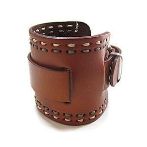 【ラグ幅:24-26mm対応】NEMESIS(ネメシス)BHD Leather Cuff/レザーカフ付け替えベルト アメリカンカジュアル 腕時計替えバンド/ベルト|goody-online