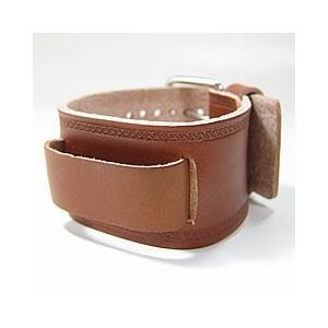 【ラグ幅:20-22mm対応】NEMESIS(ネメシス) BHST Leather Cuff/レザーカフ付け替えベルト アメリカンカジュアル 腕時計替えバンド/ベルト 【あすつく】|goody-online