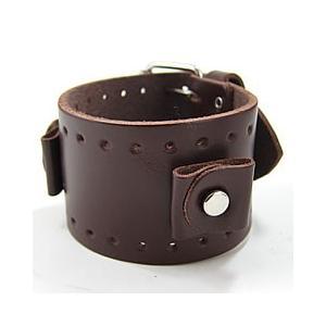 【ラグ幅:20-22mm対応】NEMESIS(ネメシス)BJB Leather Cuff/レザーカフ付け替えベルト アメリカンカジュアル 腕時計替えバンド/ベルト|goody-online