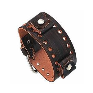 【ラグ幅:22-24mm対応】NEMESIS(ネメシス)BNB Leather Cuff/レザーカフ付け替えベルト アメリカンカジュアル 腕時計替えバンド/ベルト|goody-online