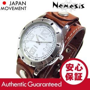 NEMESIS(ネメシス) Leather Cuff/レザーカフウォッチ BSTH096W アメリカンカジュアル メンズウォッチ 腕時計【あすつく】|goody-online