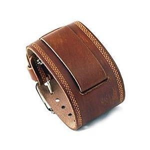 【ラグ幅:22-24mm対応】NEMESIS(ネメシス)BUIN Leather Cuff/レザーカフ付け替えベルト アメリカンカジュアル 腕時計替えバンド/ベルト|goody-online