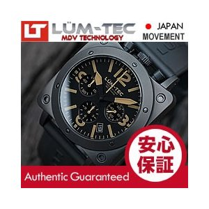 【世界限定ウォッチ】 LUM-TEC (ルミテック) A19 BULL42 Phantom クロノグラフ 日本製 SII VK67 Mecha クォーツ チタニウムPVD ミリタリー 腕時計|goody-online
