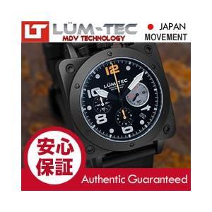 【世界限定ウォッチ】LUM-TEC (ルミテック) BULL42 A22 クロノグラフ 日本製 SII VK67 Mecha クォーツ PVD ミリタリーウォッチ 腕時計|goody-online