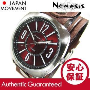 NEMESIS(ネメシス) Leather Cuff/レザーカフウォッチ BVEB110BU アメリカンカジュアル メンズウォッチ 腕時計 【あすつく】|goody-online