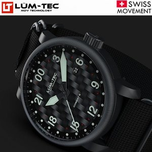 LUM-TEC ルミテック COMBAT B41 コンバット 24時間表示 43mm スイス製RONDA R515.24H ムーブメント採用 メンズ 腕時計|goody-online