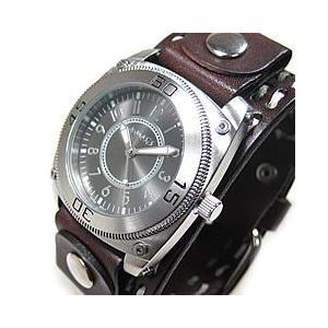 NEMESIS(ネメシス) Leather Cuff/レザーカフウォッチ DBDSTH012K アメリカンカジュアル メンズウォッチ 腕時計 【あすつく】|goody-online