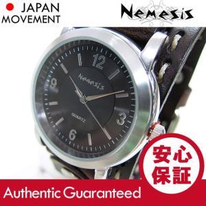 NEMESIS(ネメシス) Leather Cuff/レザーカフウォッチ DBDSTH094K アメリカンカジュアル メンズウォッチ 腕時計【あすつく】|goody-online