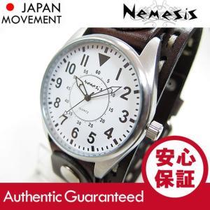 NEMESIS(ネメシス) Leather Cuff/レザーカフウォッチ DBDSTH095W アメリカンカジュアル メンズウォッチ 腕時計 【あすつく】|goody-online