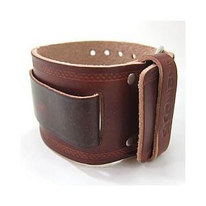 【ラグ幅:24-26mm対応】NEMESIS(ネメシス)DBKIN Leather Cuff/レザーカフ付け替えベルト アメリカンカジュアル 腕時計替えバンド/ベルト|goody-online