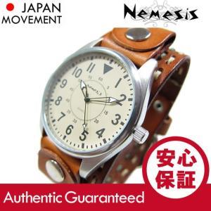 NEMESIS(ネメシス) Leather Cuff/レザーカフウォッチ DSTH095Y アメリカンカジュアル メンズウォッチ 腕時計【あすつく】|goody-online