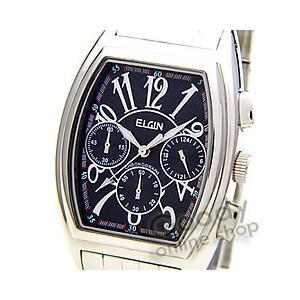 【正規品】ELGIN(エルジン) FK1215S-B クロノグラフ トノー ブラック メンズ 腕時計|goody-online