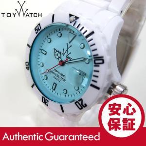 ToyWatch (トイウォッチ) FL01WHLB FLUO ダイバーズスタイル 樹脂ベルト ホワイト×ブルー レディースウォッチ 腕時計 【あすつく】|goody-online